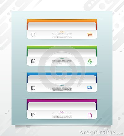 3D step modern square business infographic vector design with paper effect for finance corporate and used for presentation, Vector Illustration