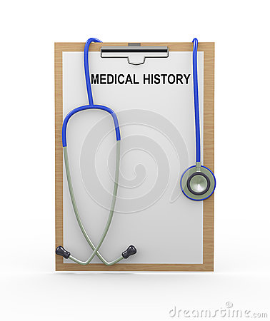 3d stethoscope and medical history