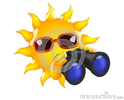 3d Sun binoculars
