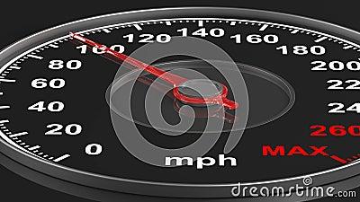 3d tła czerń szybkościomierz 3 d czynią ilustracji