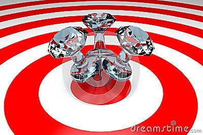 3D Thumbtacks On Target