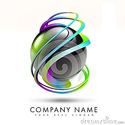 3D torsión Logo Design