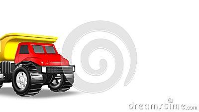 3D Toy Dump Truck ilustração royalty free