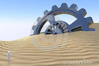 3D uomo - tecnologia di scoperta