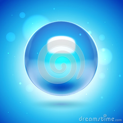 3d vector blue sphere