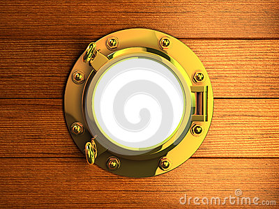 3d Yacht porthole Stock Photo