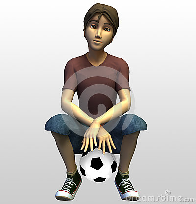 3d Soccer Player Royalty Free Stock Image Image 30148826