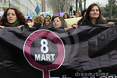 Día de las mujeres internacionales Foto editorial