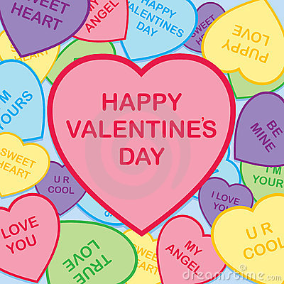 Día de tarjeta del día de San Valentín feliz