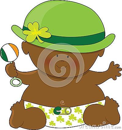 Día del St. Patricks del bebé