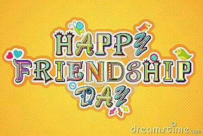 Día feliz de la amistad