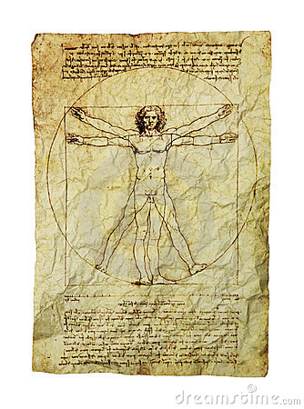 Da Vinci s Vitruvian Man Editorial Photography