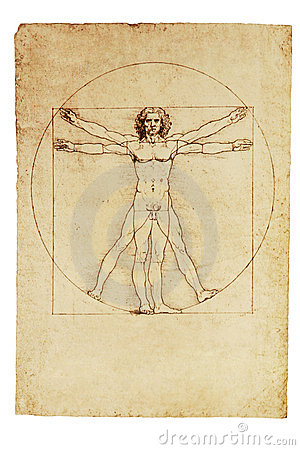 Da Vinci s Vitruvian Man Editorial Stock Photo