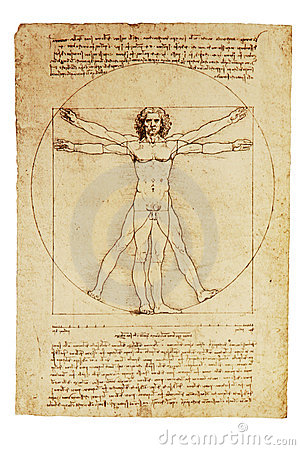 Da Vinci s Vitruvian Man Editorial Stock Image