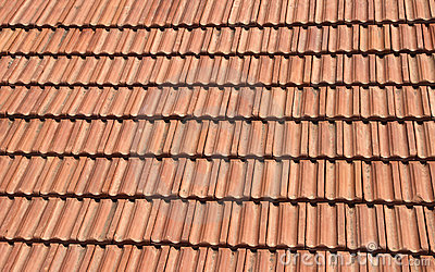 Dach der roten Fliese