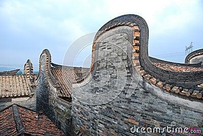Dach des historischen Hauses