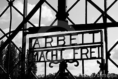 Dachau concentration camp gate Editorial Image