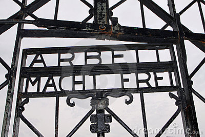 Dachau entrance (concentration camp) Editorial Stock Image