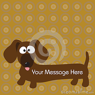 Dachshund (hot dog) dog & background
