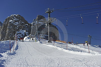 Dachstein Mountain s Skiing Area Editorial Stock Image