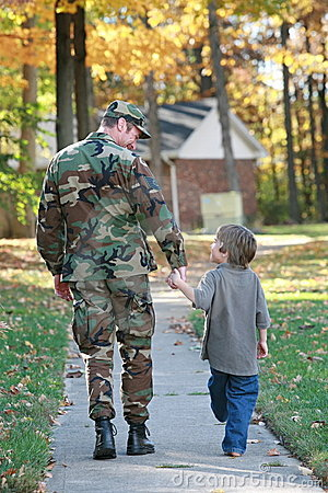Free Dad And Son Walking Stock Image - 5869631