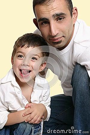 Dad with happy son