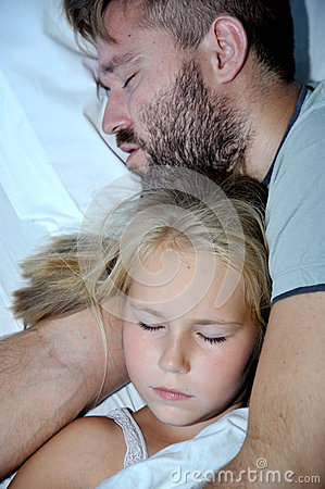 Litlle girl and Dad