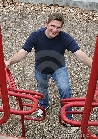 Dad at Playground