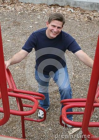 Dad at Playground