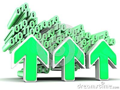 Dados binários transferindo arquivos pela rede