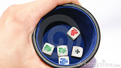 Dados del póker de la vendimia