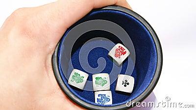 Dados do póquer do vintage