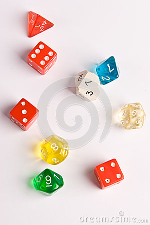 Dados del estilo del juego del papel