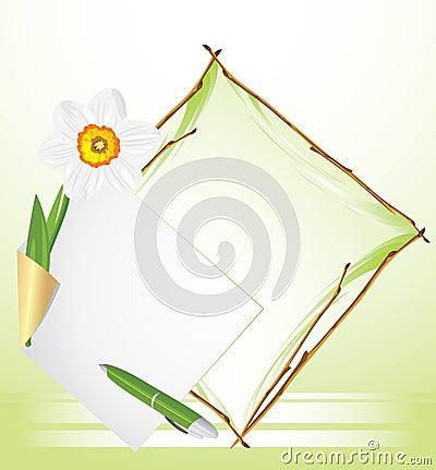 εορταστικό πλαίσιο ανασκόπησης daffodil