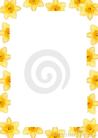 Free Daffodil Frame Stock Photography - 701362