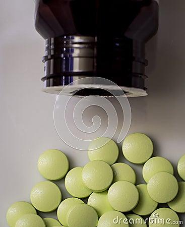 Dagelijkse pillen of vitaminen