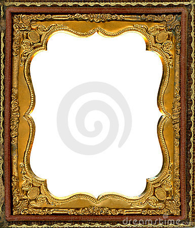 Free Daguerreotype Frame With Clipping Path Stock Photography - 15360112