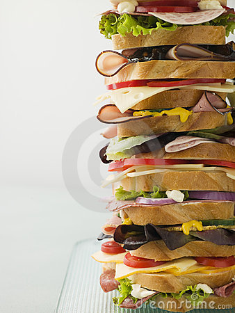 Free Dagwood Tower Sandwich Royalty Free Stock Image - 5573876