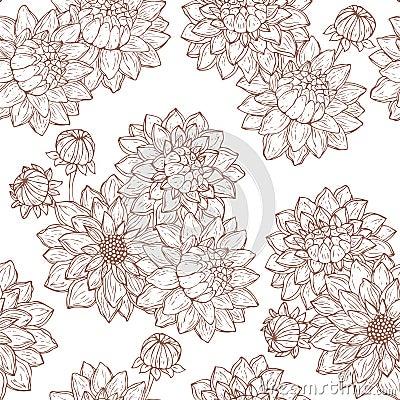 Dahlia flower and buds