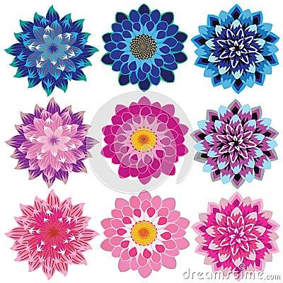 Free Dahlia Flower Petals Cascading Stock Photography - 53855832