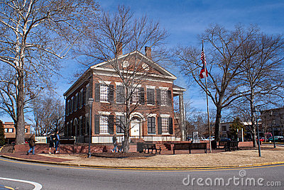Dahlonega Gold Museum in Lumpkin County Courthouse Editorial Stock Photo