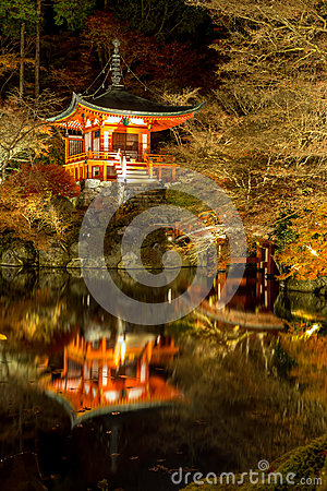 Daigoji Temple Night Kyoto
