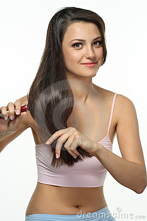 Free Daily Care Of Long Hair Royalty Free Stock Image - 15002656