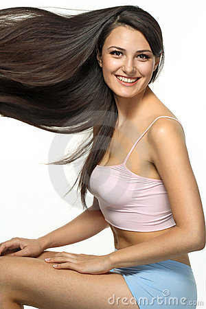 Free Daily Care Of Long Hair Stock Image - 15681741
