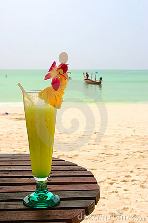 Free Daiquiri Cocktail On The Sunny Royalty Free Stock Photos - 2207258