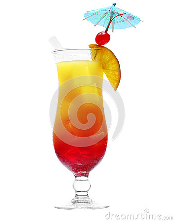Free Daiquiri Cocktail With Fresh Tropical Fruit With Clipping Path Royalty Free Stock Images - 30552419
