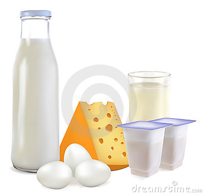 Free Dairy Products And Eggs Stock Photos - 17192063