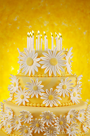 Daisy Birthday Cake Stock Photo Image 22028730