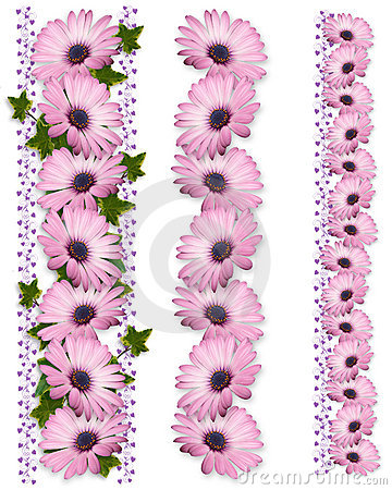 Free Daisy Borders Purple 3 Styles Stock Photo - 10297550