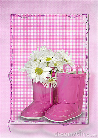 Daisy bouquet on boot